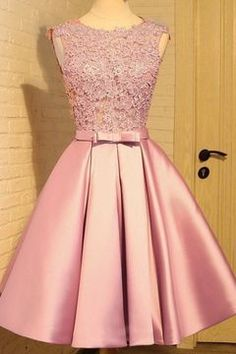 Sleeveless Prom Dresses, Homecoming Dress With Appliques, Short Homecoming Dress, Prom Dresses Pink Homecoming Dress Short Homecoming Dresses A Line Prom Dresses, Prom Party Dresses, Dresses For Teens, Occasion Dresses, Homecoming Dresses, Evening Dresses, Short Dresses, Bridesmaid Dresses, Formal Dresses