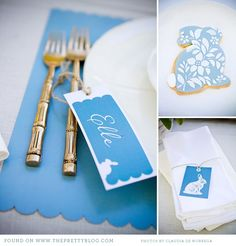 Free printable Easter tags and placemats.  So adorable!