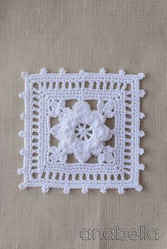 Crochet lace motif nr 1 by Anabelia
