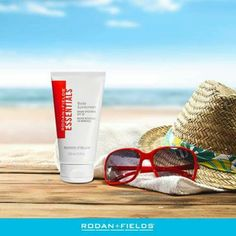 How are you staying sun safe this summer? Apply ESSENTIALS Broad Spectrum SPF 30 Body Sunscreen to protect your skin. #DermRF
