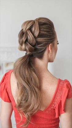 Ponytail Hairstyles Tutorial, Up Hairstyles, Hair Tutorial Braid, Waitress Hairstyles, Braided Hairstyles Tutorials, Hair Up Styles, Medium Hair Styles, Natural Hair Styles, Medium Hair Braids