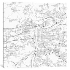 """East Urban Home 'Prague Roadway' Graphic Art on Wrapped Canvas in Gray Size: 18"""" H x 18"""" W x 0.75"""" D"""