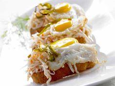 Pintxo de surimi rallado y huevo