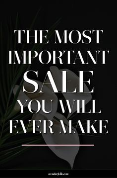 The most important sale you will ever make - it's not your products or services. For small business owners who are selling online, this is the key element to consider when it comes to your sales strategy.
