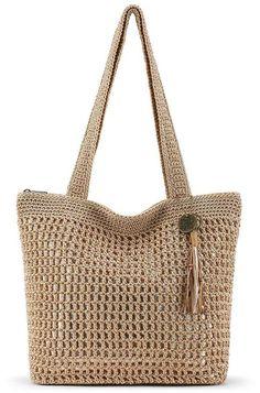 Take a look at this The Sak Bamboo & Gold Riviera Tote today!Full graphic text (tag): The Sak W x H x strap dropOuter: man-madeLining: polyesterZip closureInterior: three pocketsImported The Sak Handbags, Tote Handbags, Leather Handbags, Crochet Tote, Crochet Handbags, Crocheted Bags, Crochet Baby, Market Bag, Brown Bags