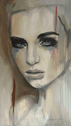 """Saatchi Art Artist: Hesther Van Doornum; Acrylic 2013 Painting """"Gentle - SOLD on Saatchi Online"""""""
