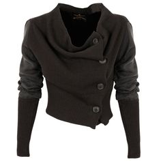 Vivienne Westwood Anglomania Drape Cardigan   GarmentQuarter