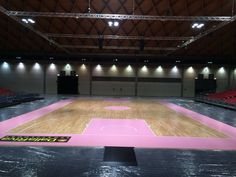 "Pink Parquet is the new innovative portable sports floor. The presentation in Rimini from 4 to 6 March on the occasion of ""RNB Basketball Festival 2016"""