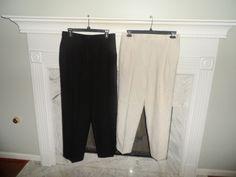 LADIES  2 PAIR PANTS SIZE 14,SAG HARBOR & J.C.HOOK FOR THE PRICE OF 1 #SagHarbor #STRAITLEGPANTS