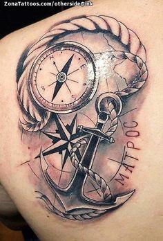 Tatuaje de Brújulas, Anclas, Cuerdas - # - Tatuaje de Brújulas, Anclas, Cuerdas – # You are in the right place about XXX Tattoo Design And - Navy Anchor Tattoos, Anchor Compass Tattoo, Navy Tattoos, Compass Tattoo Design, Top Tattoos, Body Art Tattoos, Tattoos For Guys, Sleeve Tattoos, Anchor Tattoo Design
