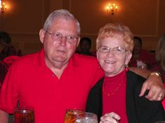 At our table: Bob and Wanda McAbee