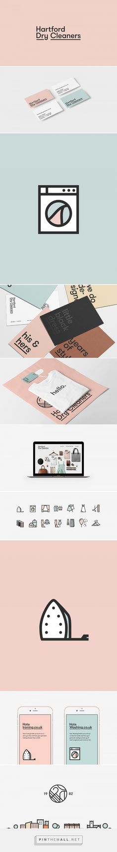 Hartford Dry Cleaners - Visual Identity + Website on Behance... - a grouped images picture - Pin Them All