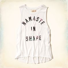 Namaste in Shape Graphic Muscle Tank Tank Girl, Moda Fitness, Muscle Tanks, Fitness Fashion, Hollister, Active Wear, Graphic Tees, Tank Tops, Athletic