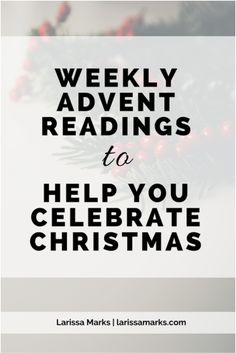 Advent Readings: a devotional guide with Bible verses, readings, and prayers to prepare for Christmas. Great for personal, family, or church worship times.