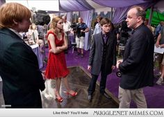 Behind The Scenes Potter Pics - - Harry Potter Memes and Funny Pics - MuggleNet Memes