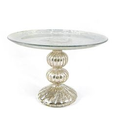 Another great find on #zulily! Silver Bulb Cake Stand #zulilyfinds