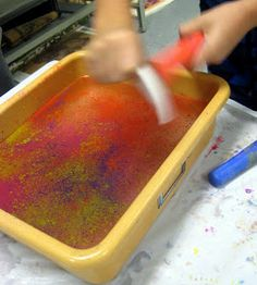 Cassie Stephens: In the Art Room: Floating Chalk Prints
