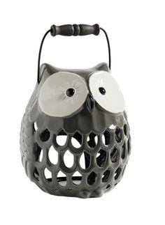 Nordal Owl Candle holder Pinned by www.myowlbarn.com