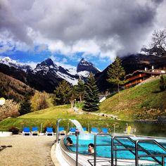 Beautiful Ovronnaz, Switzerland @Ovronnaz, Switzerland #ovronnaz Places In Switzerland, Travelling, Places To Go, Beautiful Places, Spaces, Mountains, Creative, Nature, Naturaleza