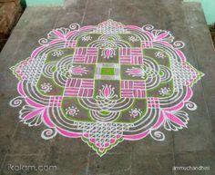 my friday padikolam is waiting for ur views :-) Rangoli Ideas, Rangoli Designs Diwali, Diwali Rangoli, Kolam Designs, Mehandi Designs, Sankranthi Muggulu, Gate Decoration, Festival Rangoli, Padi Kolam
