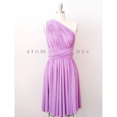 Lavender Short Infinity Dress Convertible Formal Multiway Wrap Dress... (€35) ❤ liked on Polyvore featuring dresses, silver, women's clothing, formal cocktail dresses, pink cocktail dress, formal dresses, pink bridesmaid dresses and long slip