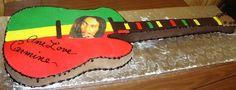 jamaica cake | Jamaican Theme Life Size Guitar Cake