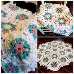 So Pretty Hex Blanket by TheCottonRoad on Etsy, $68.50