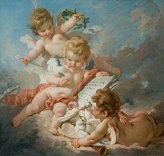 Франсуа Буше (1703 – 1770) Амуры - аллегория музыки
