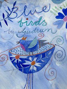 Blue BIRDS by Gudrun