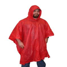 Thick vinyl emergency poncho to keep you dry in an emergency situation. Gear Shop, New Blue, Survival Gear, Shopping, Ships, United States, Products, Fashion, Moda