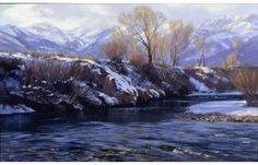 Riverbank Below Midway Utah  by Valoy Eaton http://eatonimpressions.com/