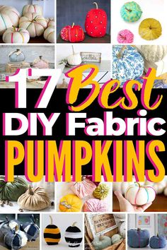 Here are the 17 BEST Ideas for Fabric Pumpkin Crafts! Easy to make, and there are so many fun DIY pumpkin ideas to try! We gathered a whole patch full of fun pumpkin DIYs for you and the kids to try this fall! Sweater Pumpkins, Faux Pumpkins, Velvet Pumpkins, Fabric Pumpkins, Diy Pumpkin, Pumpkin Crafts, Pumpkin Ideas, Shabby Chic Pumpkins, Crafts For Kids