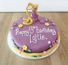 Tangled Birthday Cake