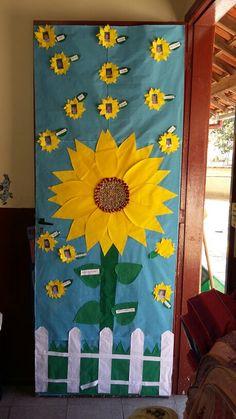 Porta de sala  tema primavera