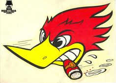 Woody Woodpecker - one of the images that boat owners had me paint to the cowlings of their boats back when I was a little kid! Woody Woodpecker, Cartoon Kunst, Cartoon Art, Cartoon Characters, Clay Smith, Hot Rod Tattoo, V8 Tattoo, Dessin Old School, Logos Vintage