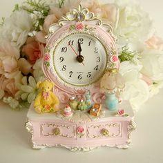 【楽天市場】ムーンベアードレッサー型置時計【ピンク】薔薇雑貨姫系雑貨 姫系インテリア かわいい:薔薇雑貨姫系雑貨のお店 RoseRich