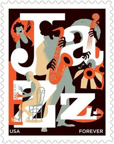 Us Postage Stamps | Paul Rogers Jazz US Postage Stamp 2011