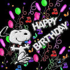 Happy Birthday, Rick! Snoopy Happy Dance!!! Yay! | Glitter Graphics