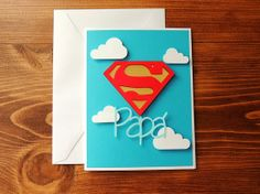 Super Papa - Spanish Father's Day Handmade Card by Corazones de Papel #corazonesdepapel
