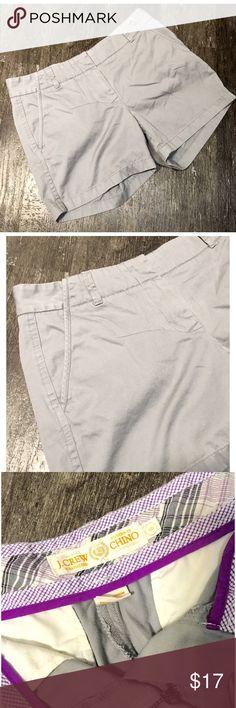 "Grey J. Crew Twill Chinos Grey J. Crew Classic Twill Chinos. Size 6. Length 13.5"", Inseam 5"". J. Crew Shorts"