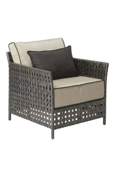 Pinery Arm Chair Beige - 703637Description :Epic backyard barbecues don't just happen - they require excessive amounts of watermelon and the proper outdoor furnishings. You're covered with the Pinery series featuring plush beige cushions settled on an aluminum frame with an airy weave. Sold separately, the series includes a dining table, chair, armchair, sofa, coffee table, sectionals and ottomanColor :BeigeProduct Cover (Upholstery Material or Type of Metal :PolyethyleneProduct Finish…