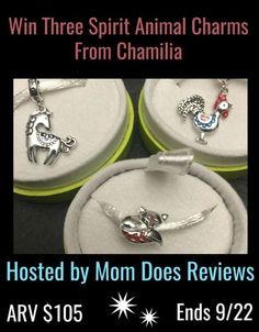We love these Chamilia Spirit Animal Charms. They are whimsical and so finely crafted that they will look beautiful on your charm bracelet or bangle.