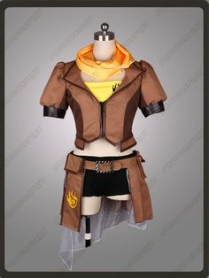 RWBY Yang Xiao Long Cosplay Costume on Etsy, $119.00
