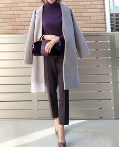 Office Fashion, Fashion Outfits, Womens Fashion, Duster Coat, Grey, Casual, Jackets, Style, Instagram