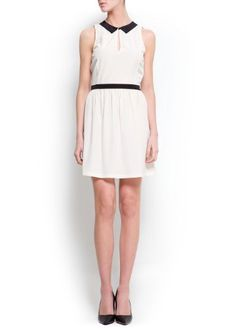 Mango Womens Naïf Dress, Neutral, 4 MANGO,http://www.amazon.com/dp/B00BNN6T0I/ref=cm_sw_r_pi_dp_DWRIrb15H434BM05
