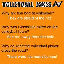 Funny volleyball jokes!                                                                                                                                                                                 More