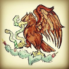 Art by Carlos Ricardez /Favorite Bird: The Eagle on the Mexican Flag