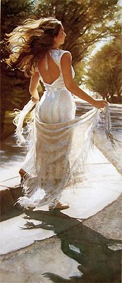 Autumn Breeze by Steve Hanks. I love the paintings of Steve Hanks! Especially his cat art.