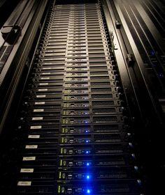Set of Dell PowerEdge 8501U server racks in the ServerCentral Datacenter in Chicago.