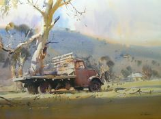 Home - Ross Paterson Watercolor Artists, Watercolor Landscape, Watercolor And Ink, Landscape Art, Landscape Paintings, Watercolour Paintings, Landscapes, Australian Painting, Australian Art